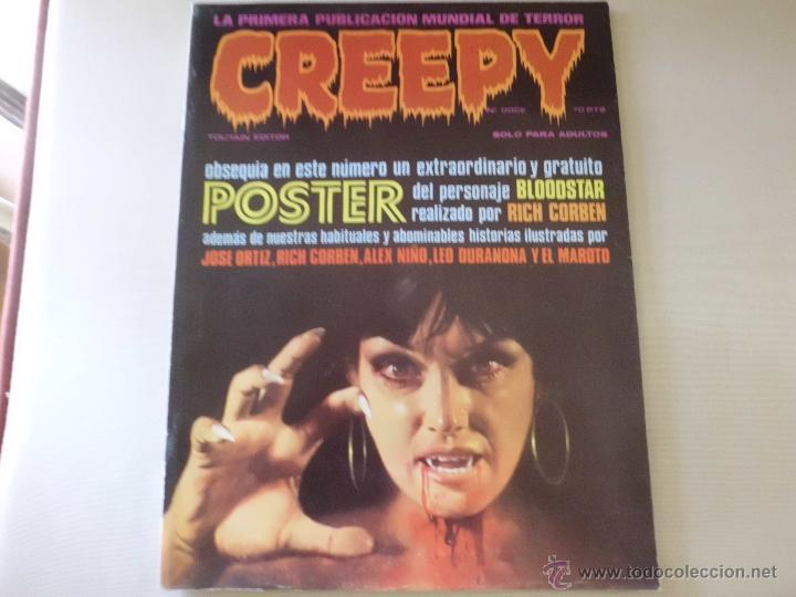 Cómics: CREEPY Nº DOCE 12 POSTER R. CORBEN TOUTAIN - Foto 2 - 54748444