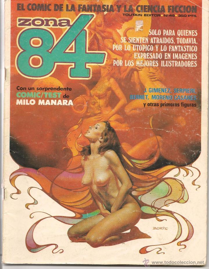 ZONA 84. LOTE DE 2 NROS: 30 Y 45. (CON ALGUN DEFECTO). (P/B30) (Tebeos y Comics - Toutain - Zona 84)
