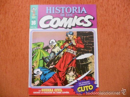 HISTORIA DE LOS COMICS 16 COMICS ESPAÑOLES DE CUTO , PEPE CARTER Y DOCTOR NIEBLA (Tebeos y Comics - Toutain - Otros)
