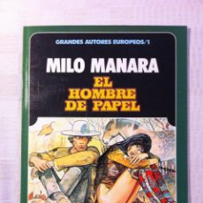 Cómics: EL HOMBRE DE PAPEL - MILO MANARA - TOUTAIN EDITOR - LA MEJOR EDICION 1985. Lote 175268902