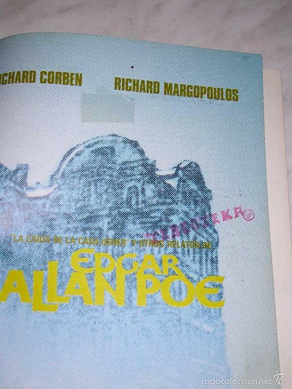 Cómics: LA CAIDA DE LA CASA USHER. EDGAR ALLAN POE. RICHARD CORBEN. OBRAS COMPLETAS Nº 4. TOUTAIN, 1985. +++ - Foto 3 - 57915236