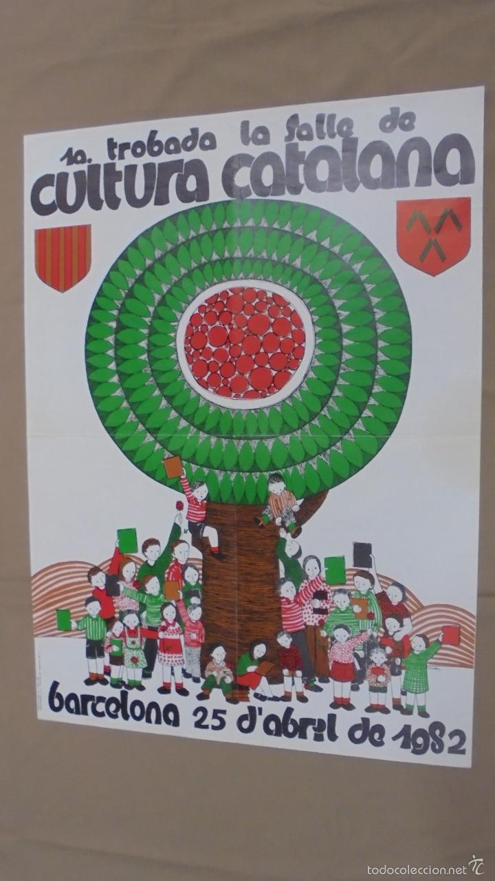 CARTEL. 1ª TROBADA, LA SALLE DE CULTURA CATALANA. BARCELONA. 1982. (Tebeos y Comics - Toutain - Otros)