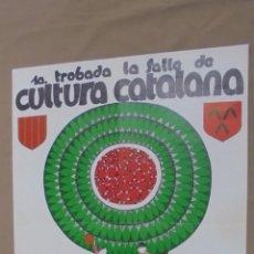 Cómics: CARTEL. 1ª TROBADA, LA SALLE DE CULTURA CATALANA. BARCELONA. 1982. . Lote 58206909