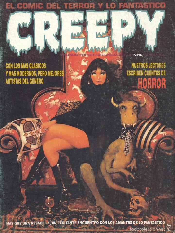 CREEPY Nº18. SEGUNDA ÉPOCA. AURALEÓN, MARTÍN SALVADOR, ZÉSAR, RAF, MIKE RATERA, AMADEU... (Tebeos y Comics - Toutain - Creepy)