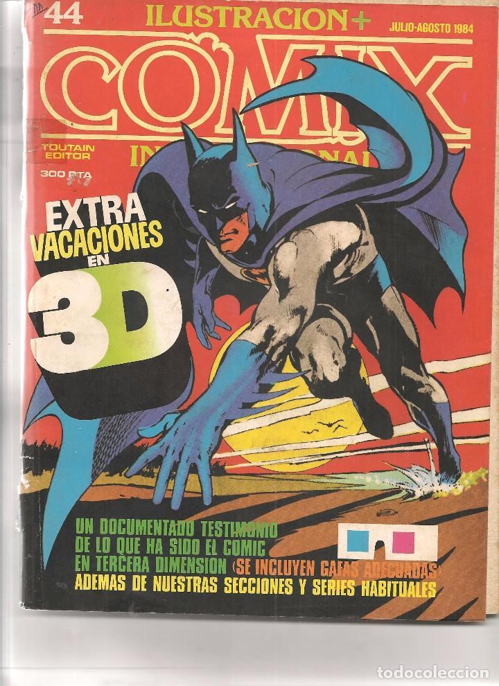 ILUSTRACION + COMIX INTERNACIONAL. Nº 44. (INCLUYE GAFAS 3D). TOUTAIN EDITOR. (ST/) (Comics und Tebeos - Toutain - Comix Internacional)