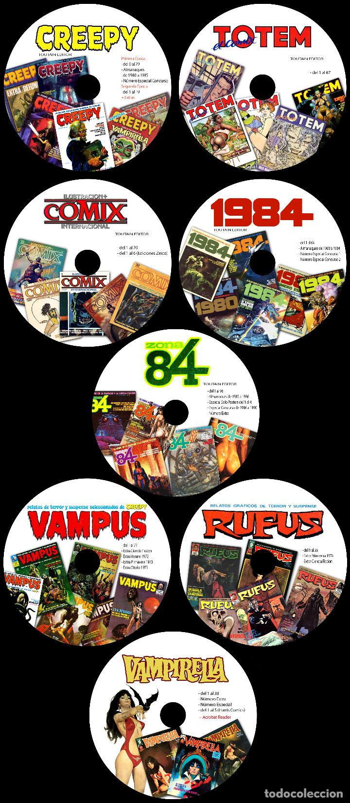 COLECCION TOUTAIN - CREEPY - 1984 - ZONA84 - COMIX INT - TOTEM - 8 DVD'S - VAMPUS - VAMPIRELLA (Tebeos y Comics - Toutain - Otros)