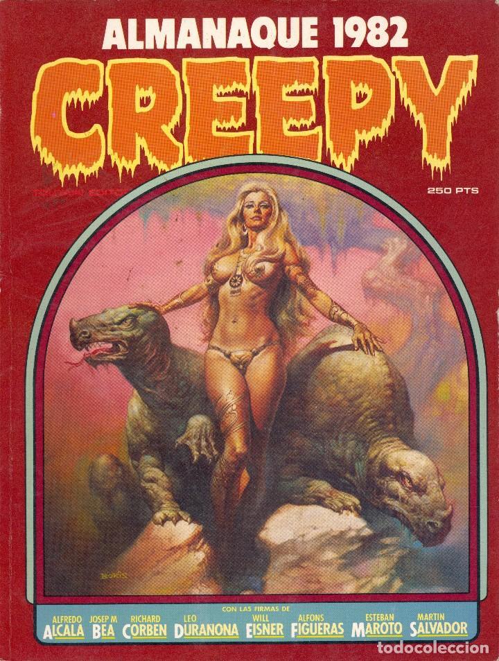 ALMANAQUE CREEPY 1982. ALFREDO ALCALÁ, CORBEN, BEA, EISNER, FIGUERAS, MAROTO, MARTÍN SALVADOR... (Tebeos y Comics - Toutain - Creepy)