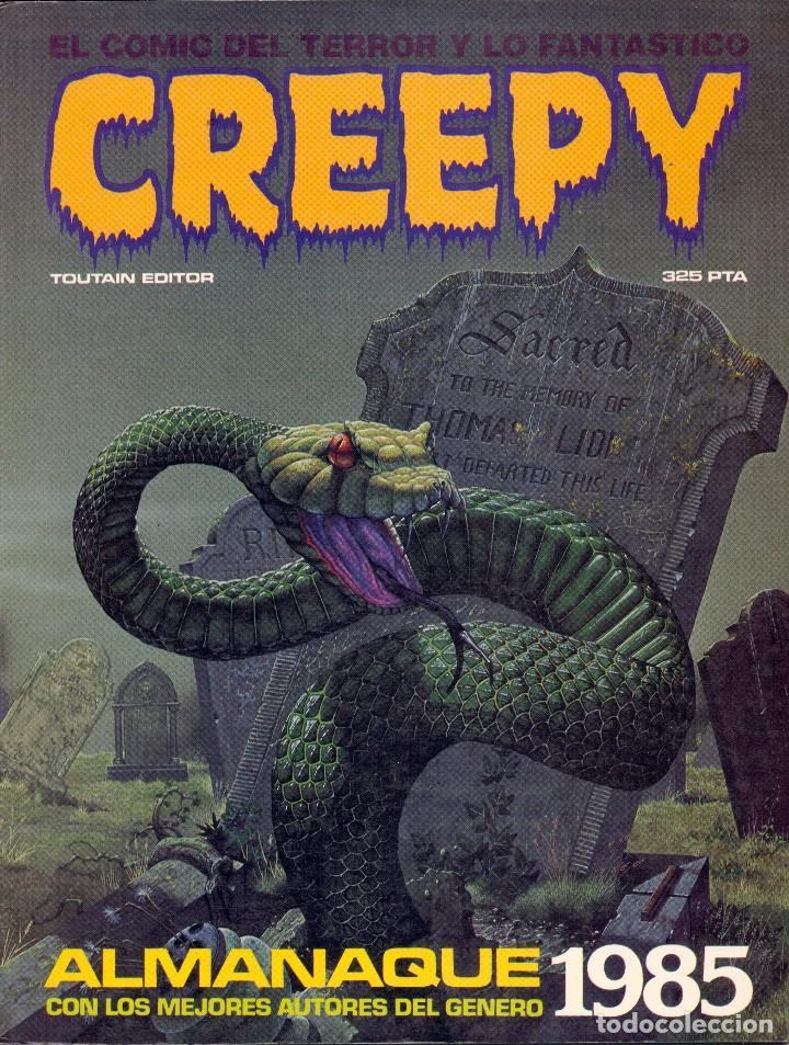 ALMANAQUE CREEPY 1985. VICENTE ALCAZAR, PAT BOYETTE, THORNE, CORBEN, BERNET, FLORENCI CLAVE... (Tebeos y Comics - Toutain - Creepy)