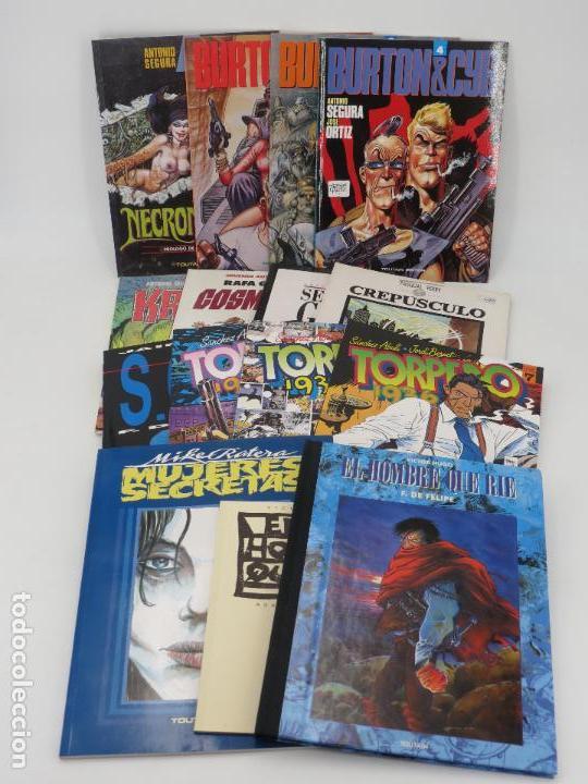 PACK TOUTAIN 1. 12 ÁLBUMES DIFERENTES. HOMBRE QUE RIE, SOUL, TORPEDO, KRAKEN, BURTON CYB, ETC. OFRT (Tebeos y Comics - Toutain - Álbumes)