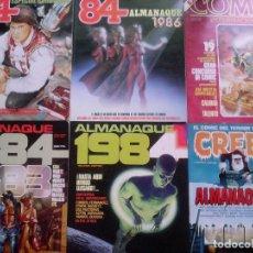 Cómics: LOTE DE ALMANAQUES. 1984-ZONA 84-. Lote 82333208