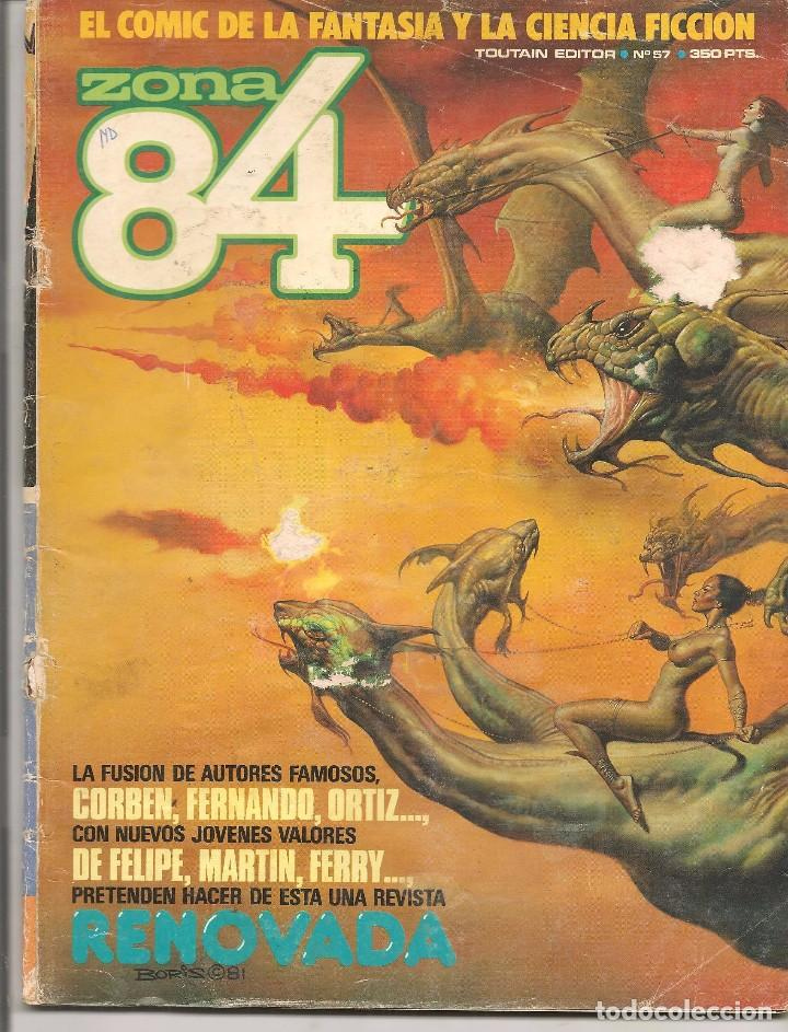 ZONA 84. Nº 57. TOUTAIN EDITOR. (ST/) (Tebeos y Comics - Toutain - Zona 84)