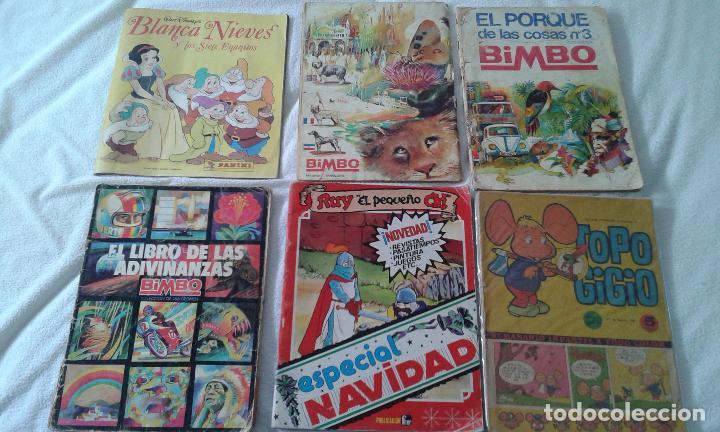 LOTE ALBUM PANINI, 3 ALBUMES BIMBO Y 2 COMIC RUY Y TOPO GIGIO. DE LOS 60,70 ,80Y 90. (Tebeos y Comics - Toutain - Álbumes)