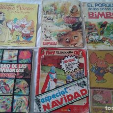 Cómics: LOTE ALBUM PANINI, 3 ALBUMES BIMBO Y 2 COMIC RUY Y TOPO GIGIO. DE LOS 60,70 ,80Y 90.. Lote 84647376