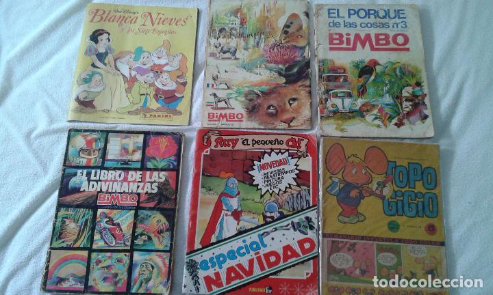 Cómics: LOTE ALBUM PANINi, 3 ALBUMES BIMBO Y 2 COMIC RUY Y TOPO GIGIO. DE LOS 60,70 ,80Y 90. - Foto 2 - 84647376