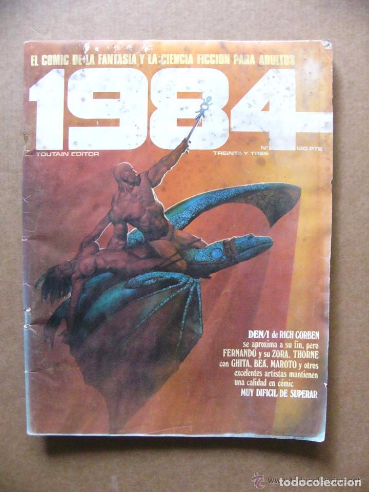 COMIC 1984 Nº 33 FANTASIA Y CIENCIA FICCION - TOUTAIN EDITOR--REFSAMUMEES6 (Tebeos y Comics - Toutain - 1984)
