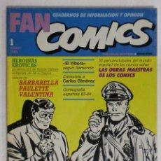 Cómics: FAN COMICS Nº1. WILL EISNER ENTREVISTA A MILTON CANIFF. TOUTAIN EDITOR. 1985. . Lote 87130724