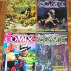 Cómics: GRAN LOTE 4 COMICS ILUSTRACION + COMIX INTERNACIONAL 1980-1984 TOUTAIN FANTASIA CIENCIA FICCION 80S. Lote 87518956