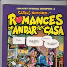 Cómics: CARLOS GIMENEZ: ROMANCES DE ANDAR POR CASA. TOUTAIN EDITOR. Lote 88394944