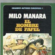 Comics: GRANDES AUTORES EUROPEOS 1, MILO MANARA: EL HOMBRE DE PAPEL, 1985, TOUTAIN, MUY BUEN ESTADO. Lote 91568635