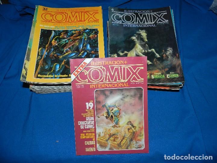(MF) LOTE DE NUMEROS DE COMIX INTERNACIONAL , TOUTAIN EDITOR 1980 , SEÑALES DE USO (Tebeos y Comics - Toutain - Comix Internacional)