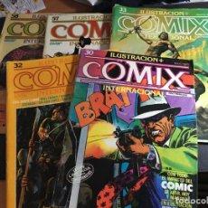 Cómics: COMIX INTERNACIONAL LOTE Nº 30, 32, 33, 57 Y 58. DE REGALO DOSSIER NEGRO 71 (COI36). Lote 95882771