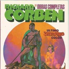 Cómics: COLECCIÓN COMPLETA OBRAS COMPLETAS RICHARD CORBEN (12 TOMOS) - MUY BUEN ESTADO. Lote 95926039