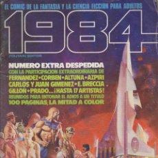 Cómics: 1984, TOUTAIN, EL COMIC DE LA FANTASIA Y LA CIENCIA FICCION PARA ADULTOS - NUMERO EXTRA DESPEDIDA - . Lote 97919215