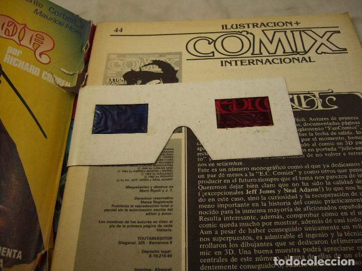 Cómics: ILUSTRACION + COMIX INTERNACIONAL Nº 44 - AGOSTO 1984 Gafas 3D - Foto 2 - 98221203
