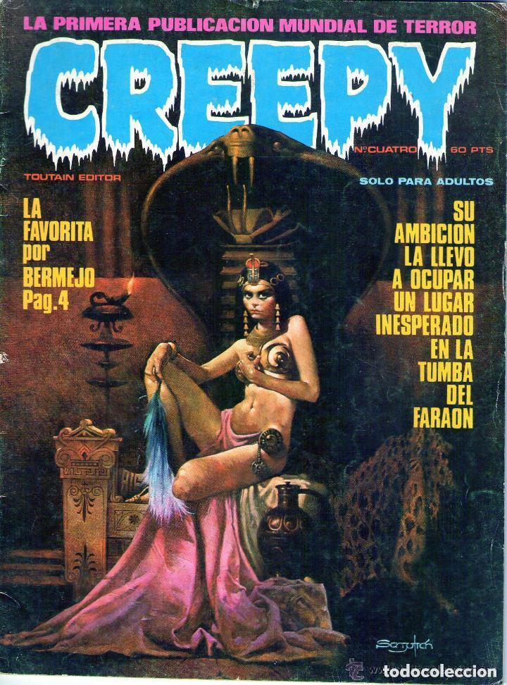 LOTE DE 3 EJEMPLARES DE LA COLECCION CREEPY DE EDITORIAL TOUTAIN - PRINCIPIOS AÑOS 80 (Tebeos y Comics - Toutain - Creepy)