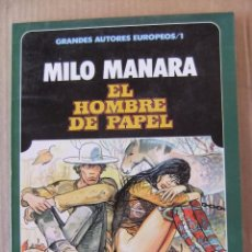 Cómics: GRANDES AUTORES EUROPEOS Nº 1 EL HOMBRE DE PAPEL MIRO MANARA TOUTAIN EDITOR. Lote 99380899