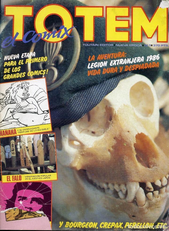 Cómics: 5 TOTEM. EL COMIC. NUEVA ÉPOCA. LOS 5 PRIMEROS NÚMEROS. TOUTAIN EDITOR - Foto 2 - 99518307