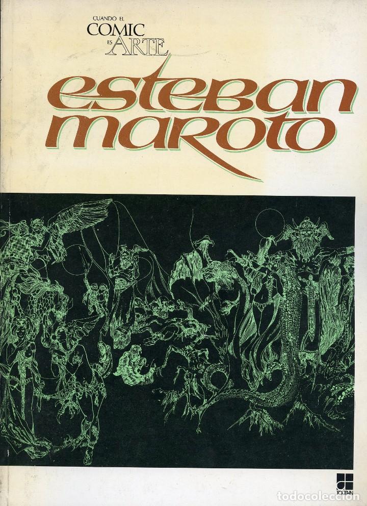 ESTEBAN MAROTO. CUANDO EL COMIC ES ARTE. TOUTAIN 1978. EN ESPAÑOL E INGLÉS (Tebeos y Comics - Toutain - Álbumes)