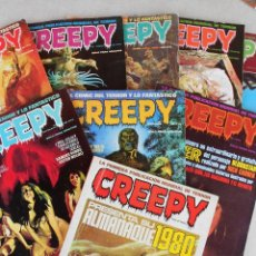 Cómics: LOTE 8 REVISTAS + ALMANAQUE 1980 CREEPY (NUMS. 3, 9, 12, 16, 18, 19, 27, 34). Lote 103477392