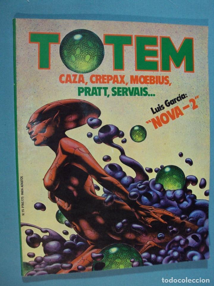 TOTEM ,COMIC TOTEM Nº 35, CAZA, CREPAX, MOPEBIUS. PRATT, SERVAIS..., 90 PAG. (Tebeos y Comics - Toutain - Zona 84)