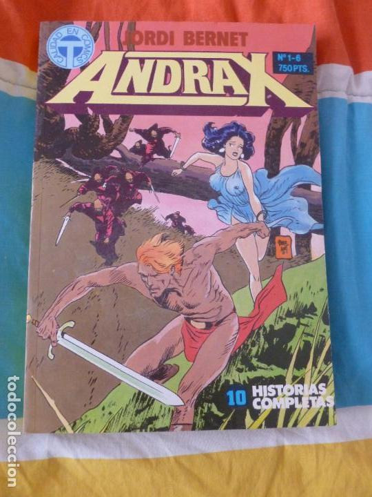 ANDRAX. TOMO 1 AL 6. JORDI BERNET. TOUTAIN (Tebeos y Comics - Toutain - Otros)