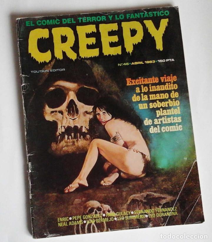 CREEPY 46, CON GULACY, NEAL ADAMS Y, SOBRE TODO, UNA VAMPIRELLA DE PEPE GONZALEZ. (Tebeos y Comics - Toutain - Creepy)
