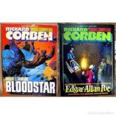 Cómics: RICHARD CORBEN - 2 TOMOS - OBRAS COMPLETAS: BLOODSTAR + CAIDA CASA USHER. Lote 102639895