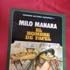 Cómics: EL HOMBRE DE PAPEL. MILO MANARA. TOUTAIN EDITOR. Lote 103772771