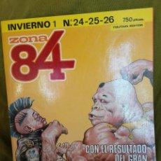 Cómics: ZONA 84 INVIERNO Nº 1 . RETAPADO CON NUMEROS 24, 25 Y 26. Lote 104019199