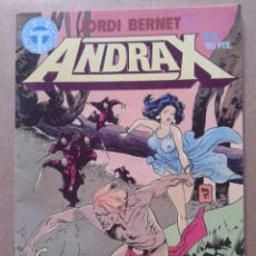 Cómics: LOTE ANDRAX: NÚMEROS 2-3-4-5-6, DE JORDI BERNET. TOUTAIN EDITOR, 1988. CALIDAD EN CÓMICS.. Lote 104136804