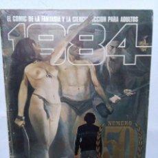 Cómics: 1984 - NUMERO 50 - INCLUIDAS LAS 4 POSTALES - EDITOR TOUTAIN. Lote 105318943