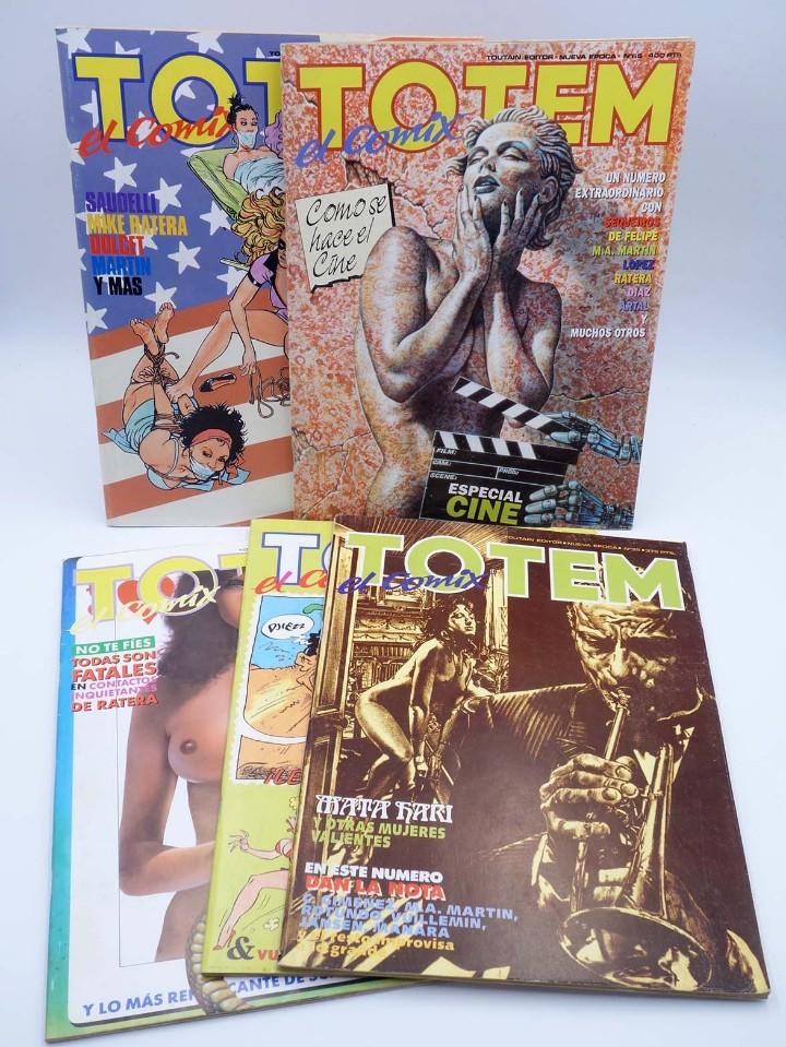 TOTEM EL COMIX 39 51 57 65 66. LOTE DE 5 NºS (VVAA) TOUTAIN, 1987. OFRT (Tebeos y Comics - Toutain - Otros)