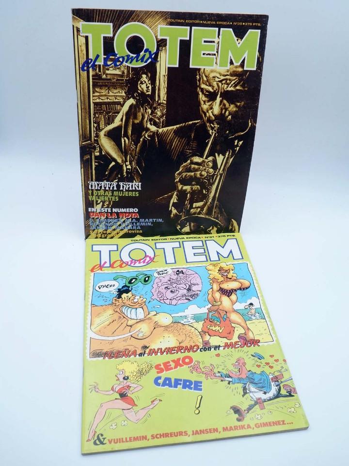 Cómics: TOTEM EL COMIX 39 51 57 65 66. LOTE DE 5 NºS (VVAA) Toutain, 1987. OFRT - Foto 2 - 147678150