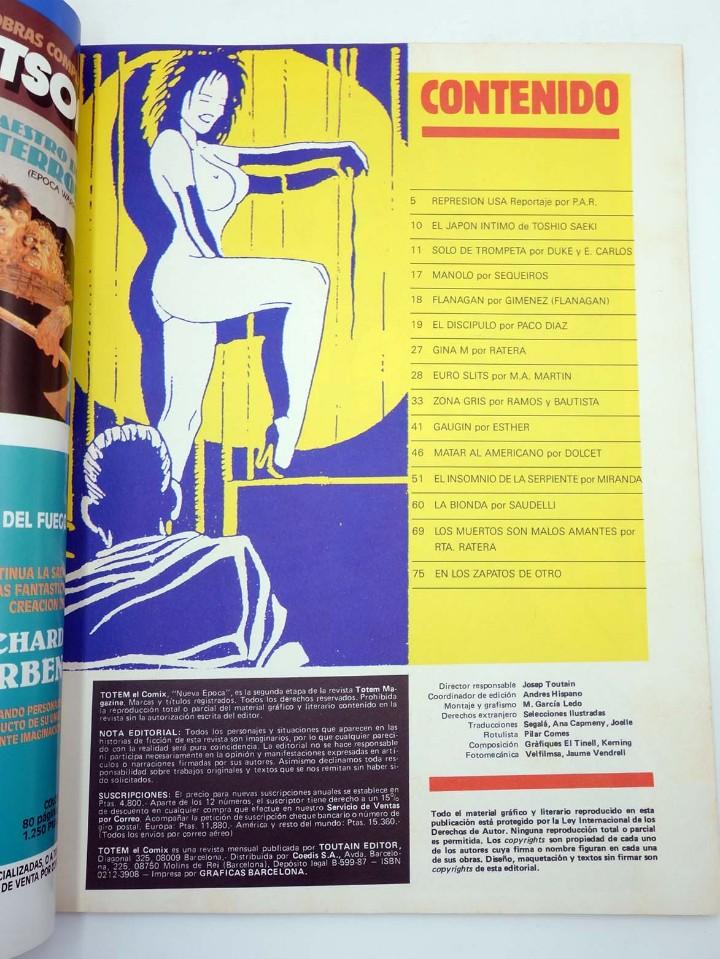 Cómics: TOTEM EL COMIX 39 51 57 65 66. LOTE DE 5 NºS (VVAA) Toutain, 1987. OFRT - Foto 5 - 147678150