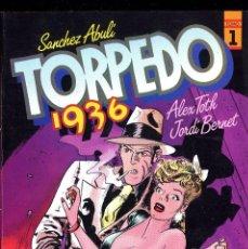 Cómics: TORPEDO 1936 BERNET ABULI ALEX TOTH TOUTAIN AÑO 1982 Nº 1 Y 2 ARMARIO ISA FONDO 2ª FILA. Lote 111952655