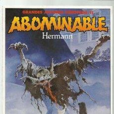 Cómics: GRANDES AUTORES EUROPEOS 11, HRERMANN: ABOMINABLE, 1989, TOUTAIN, MUY BUEN ESTADO. Lote 112355851