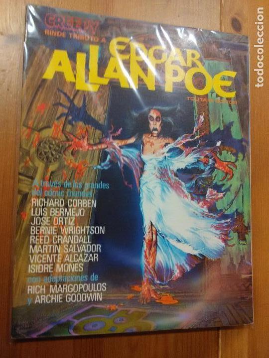 CREEPY RINDE TRIBUTO A EDGAR ALLAN POE - TOUTAIN EDITOR - AÑO 1980. (Tebeos y Comics - Toutain - Creepy)