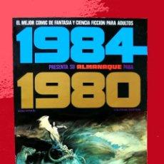 Cómics: 1984 PRESENTA SU ALMANAQUE PARA 1980 - TOUTAIN EDITOR, ORIGINAL, COMO NUEVO.. Lote 115033583
