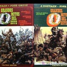 Cómics: ¡OCASION!, COLECCION COMPLETA: GRANDES MITOS DEL OESTE (DOS LIBROS), JOSE ORTIZ. Lote 115125695