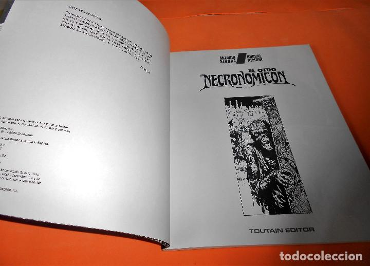 Cómics: EL OTRO NECRONOMICÓN (Antonio Segura / Brocal Remohí) 1992. PRÓLOGO ALBERTO BRECCIA. IMPECABLE - Foto 3 - 115561283